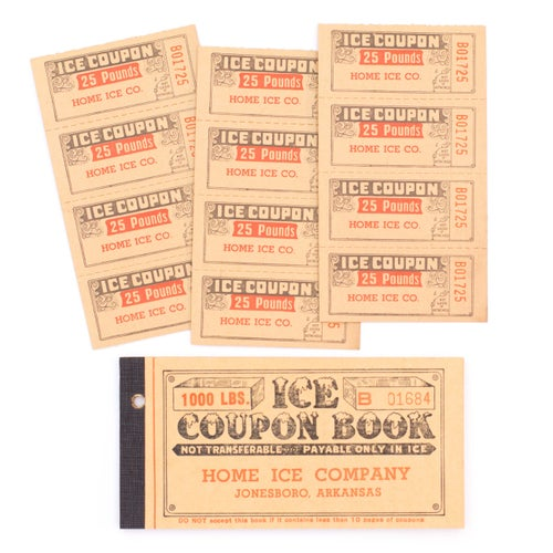 Image of Ice Coupon Ticket Booklet Duo