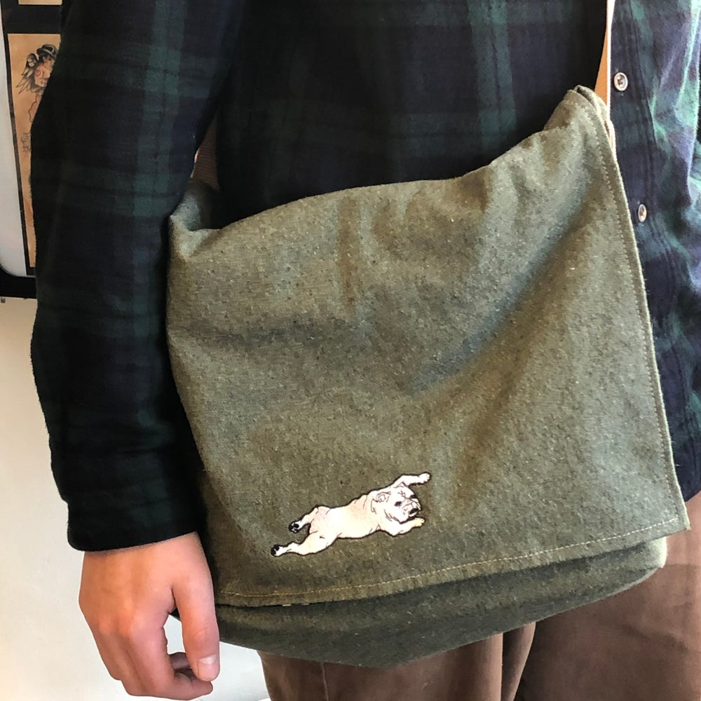 Image of Messenger Bag Green Twill
