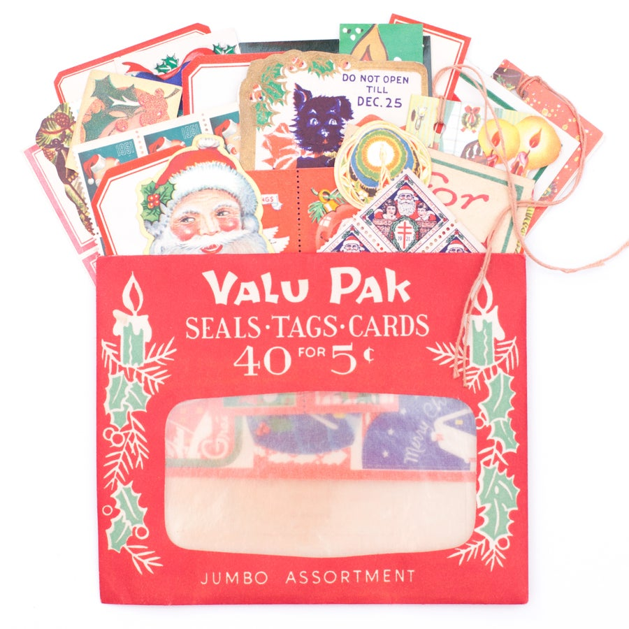 Image of Valu Pak Envelope with Christmas Ephemera