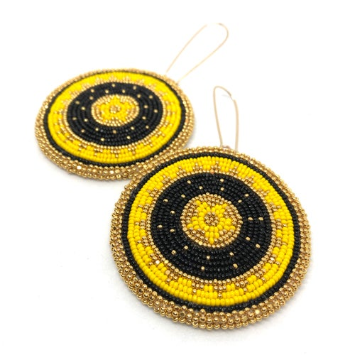 Image of Binary Earrings (Yellow)