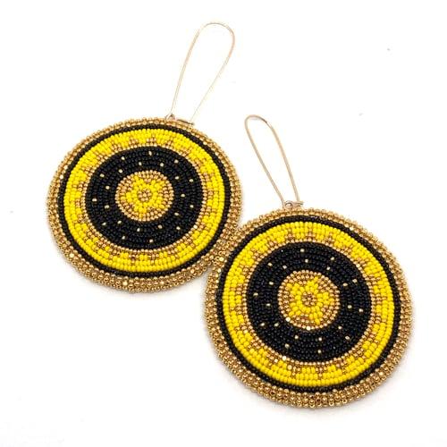 Image of Binary Earrings (Yellow)