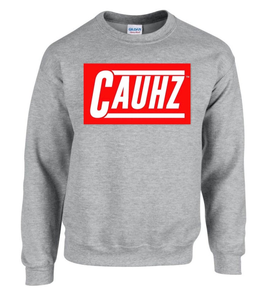 Image of Cauhz™ (Heather Grey) Crewneck Sweatshirt