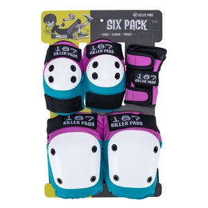 Image of ADULT SIX PACK PAD SET - Pink/Teal