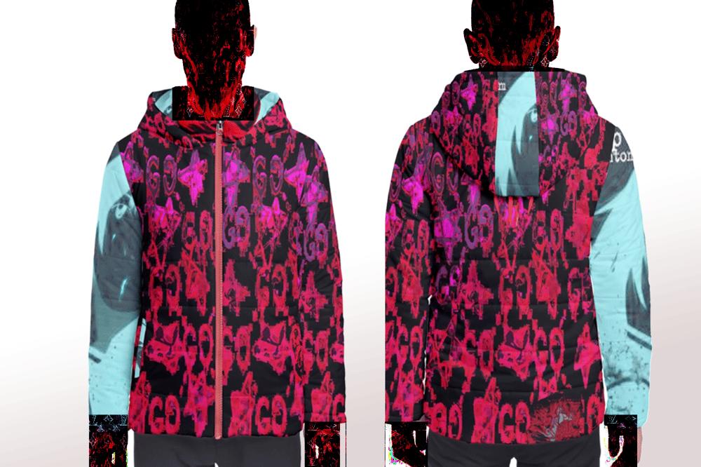 Image of fake g***i boogiepop puffy jacket
