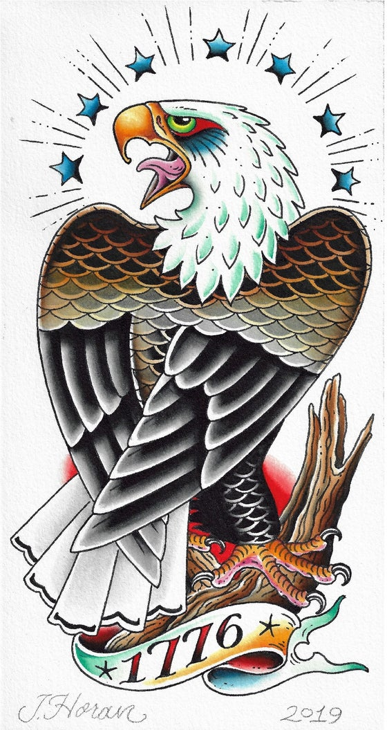 Image of eagle print