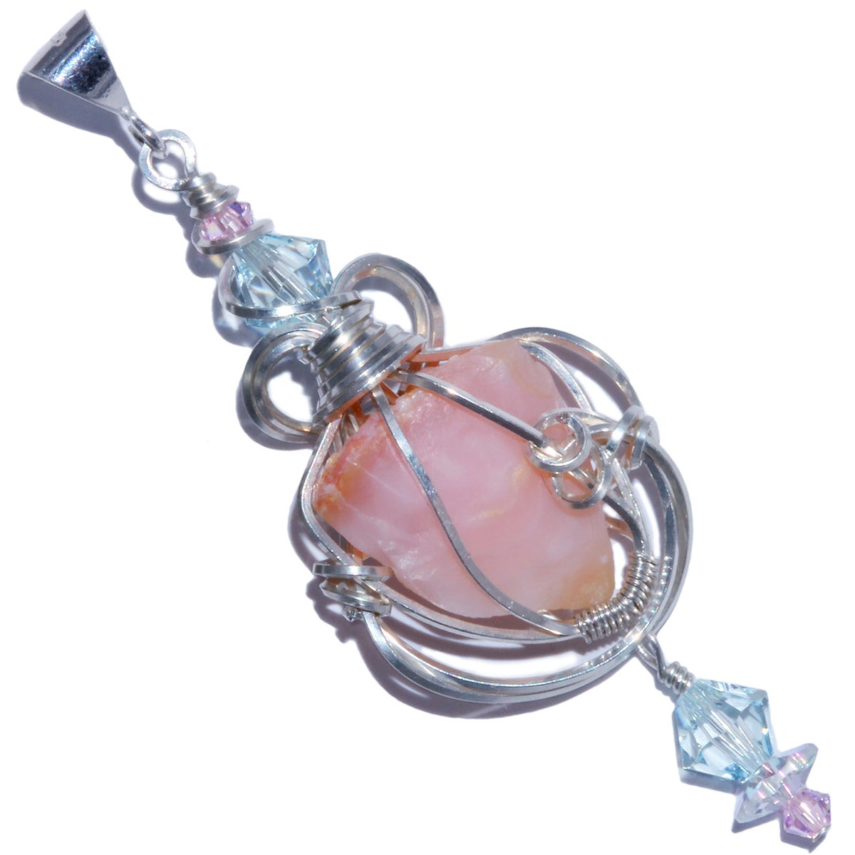 Pink Opal Handmade Pendant