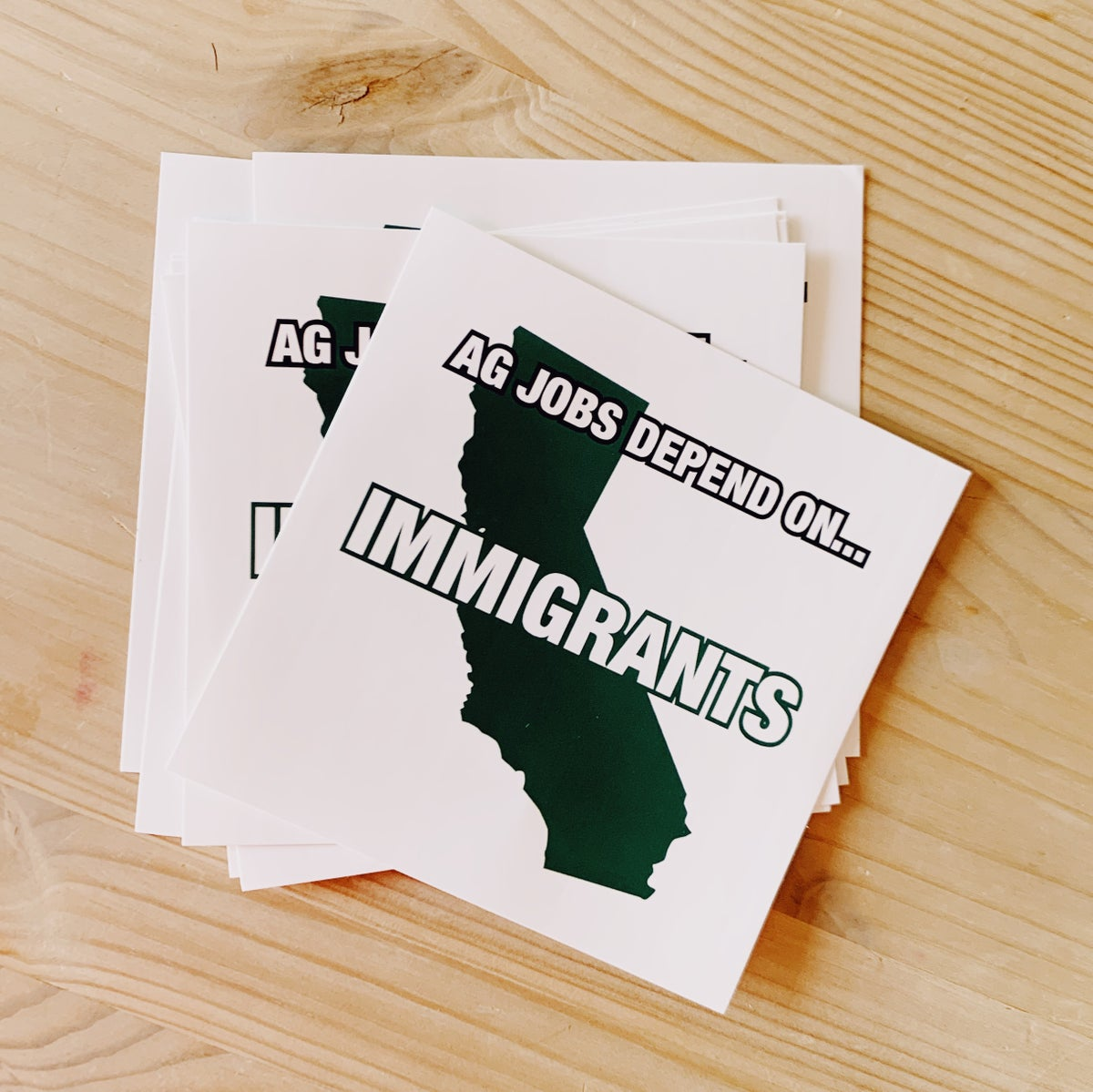Ag Jobs Depend on Immigrants | Sticker