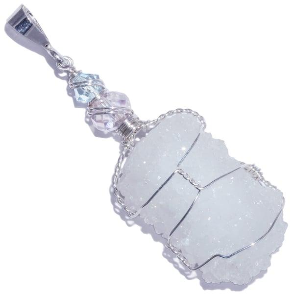 Image of Apophyllite Druzy Stalactite Pendant