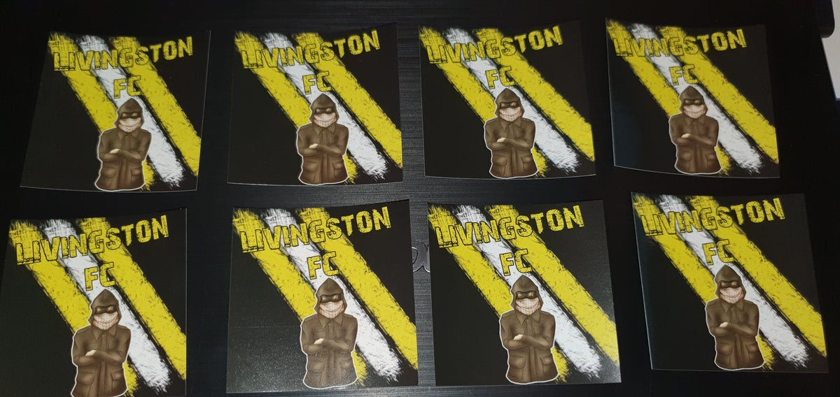 Livingston pack of 25 7x7cm football/ultras stickers.