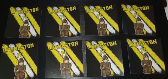 Image of Livingston pack of 25 7x7cm football/ultras stickers.