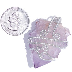 Image of Lavender Spirit Quartz Crystal Handmade Pendant