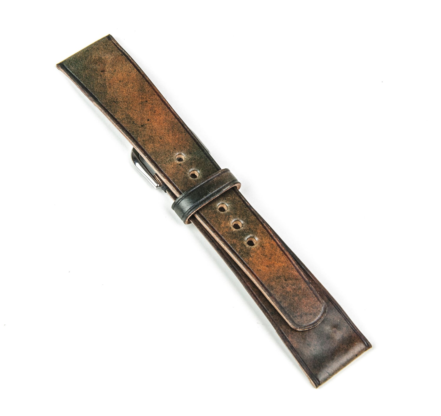 Image of Marble (ltd.ed) Horween Shell Cordovan unlined Watch strap - Limited Edition