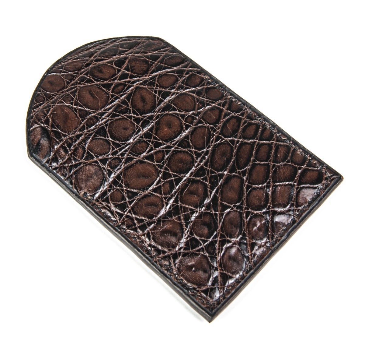 Image of Slim brown crocodile cardholder - Keep All
