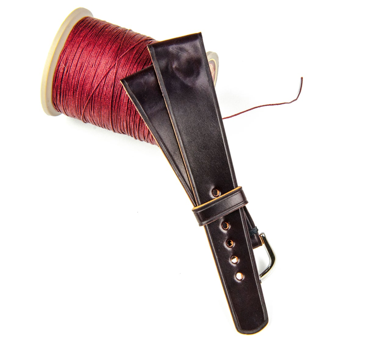 Image of #8 Horween Shell Cordovan - classic unlined watch strap