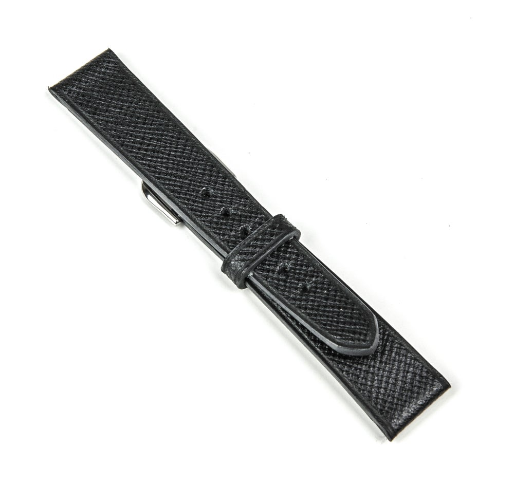 Image of SAMPLE SALE Black Grained calfskin classic watch-strap