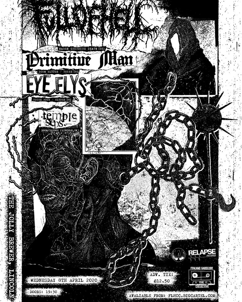 Image of Full Of Hell/Primitive Man/Eye Flys/Temple Steps @ The Jolly Brewer, Lincoln. 08/04/2020.