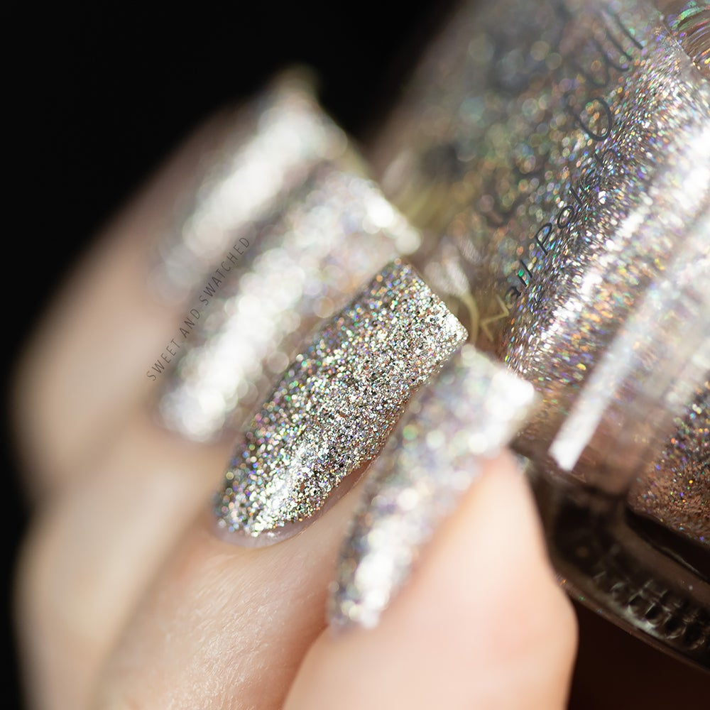 Image of Silver Sparkler  teeny micro silver holo glitter, silver flakes, a teeny amount of rose gold flakes