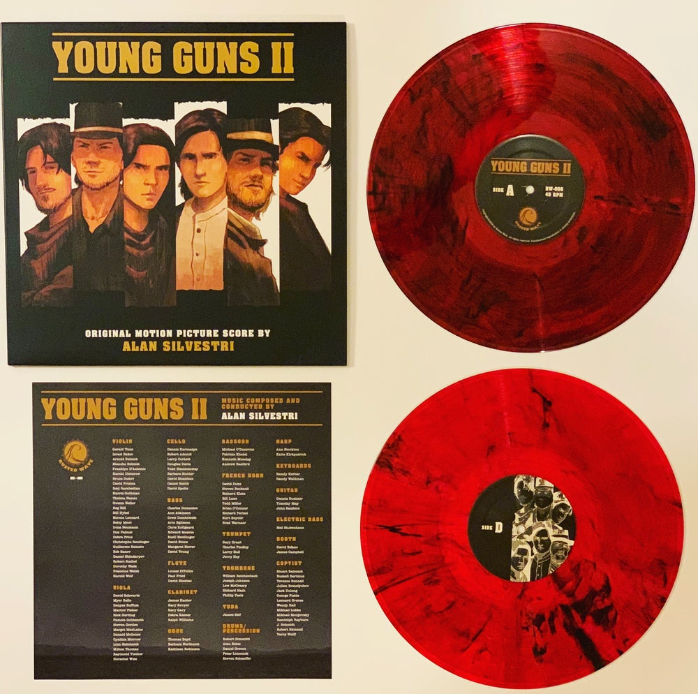Image of Young Guns II - Original Motion Picture Score (Gunfire Variant LP - Limited to 100 Copies)
