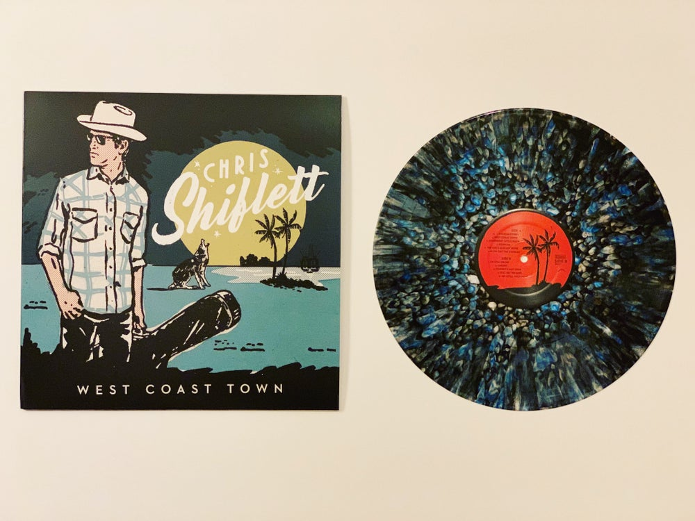 Image of Chris Shiflett - West Coast Town (Wax Mage Oil Spill Variant LP - LIMITED TO 12 COPIES!)