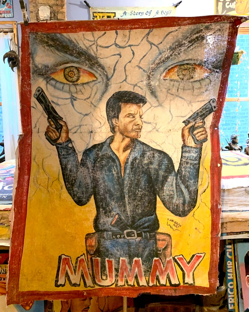 Image of Deadly Prey - 'Mummy'. Hand painted movie poster from Ghana