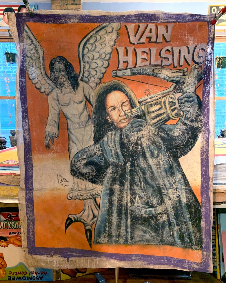 Image of Deadly Prey - 'Van Helsing'. Hand painted movie poster from Ghana