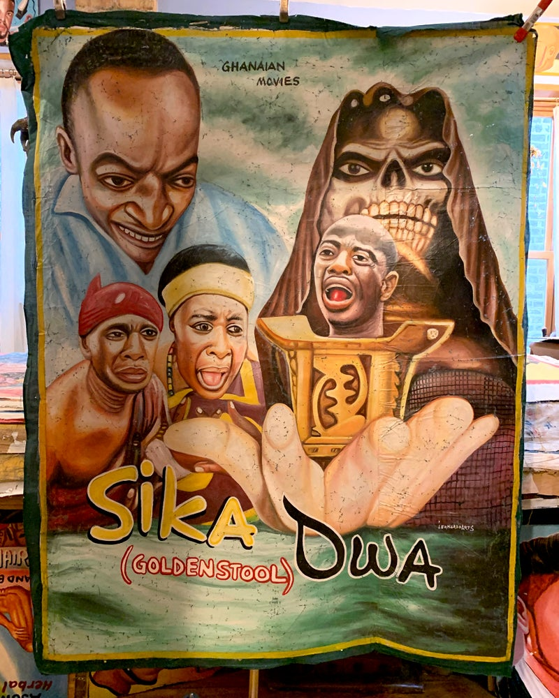 Image of Deadly Prey - 'Sika Dwa'. Hand painted movie poster from Ghana