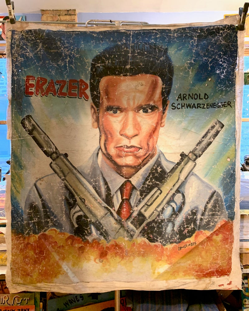Image of Deadly Prey - 'Erazer'. Hand painted movie poster from Ghana