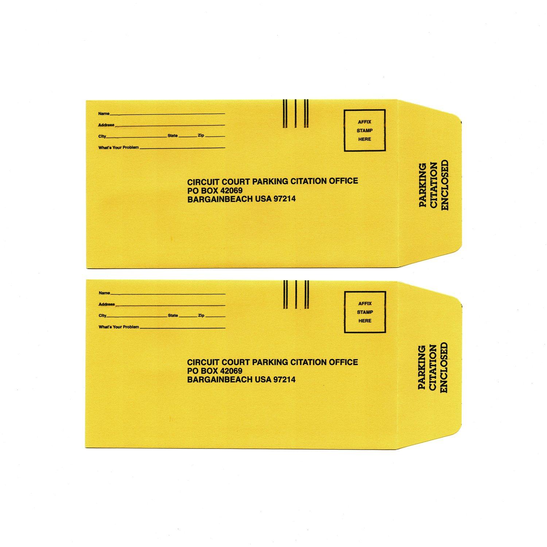 Image of Fake Citation Envelopes