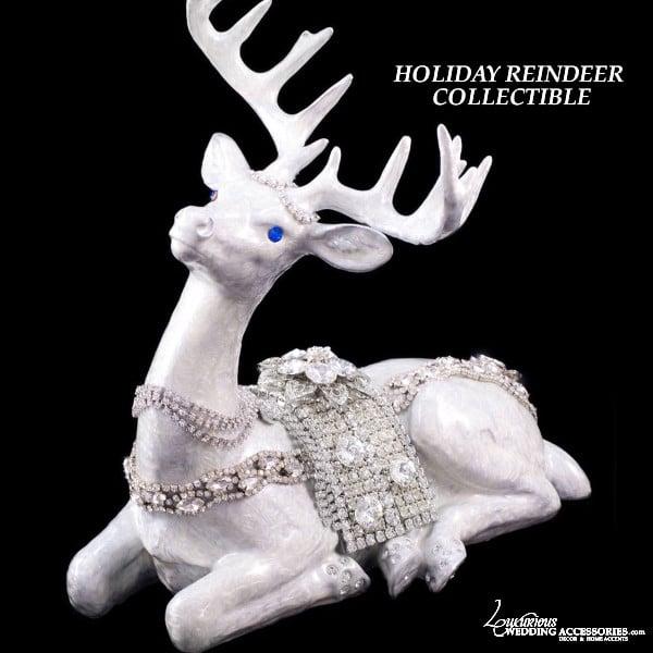 Image of Reindeer Swarovski Crystal Figurine Collectible