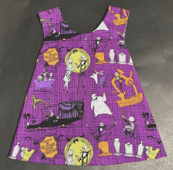 Image of 2T Purple NBC Reversible Pinafore