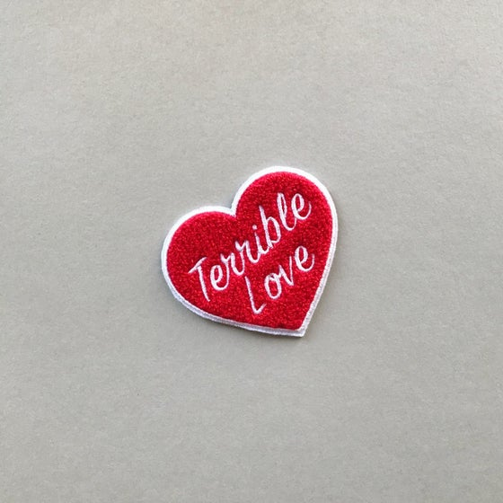 Image of 'Terrible Love' Chenille Patch