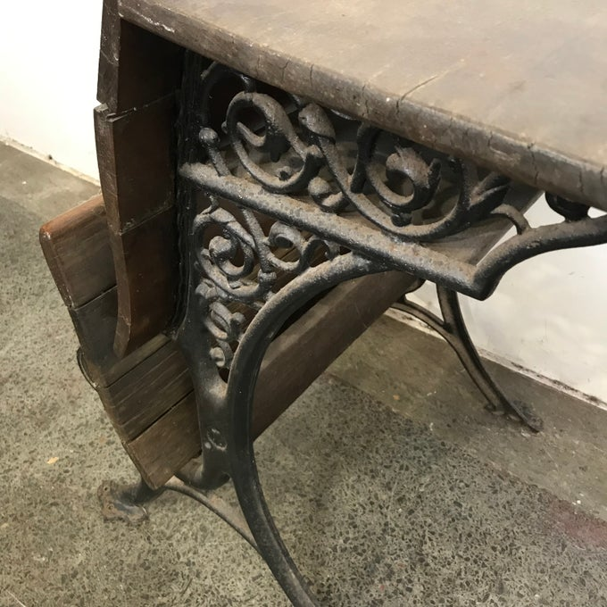Image of ANTIQUE SCHOOL DESK
