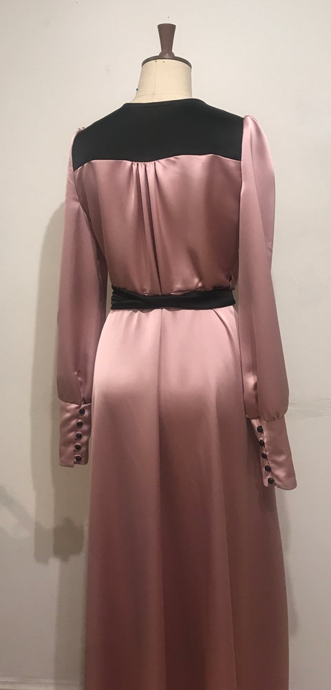 Image of Two tone Esmeralda wrap dress