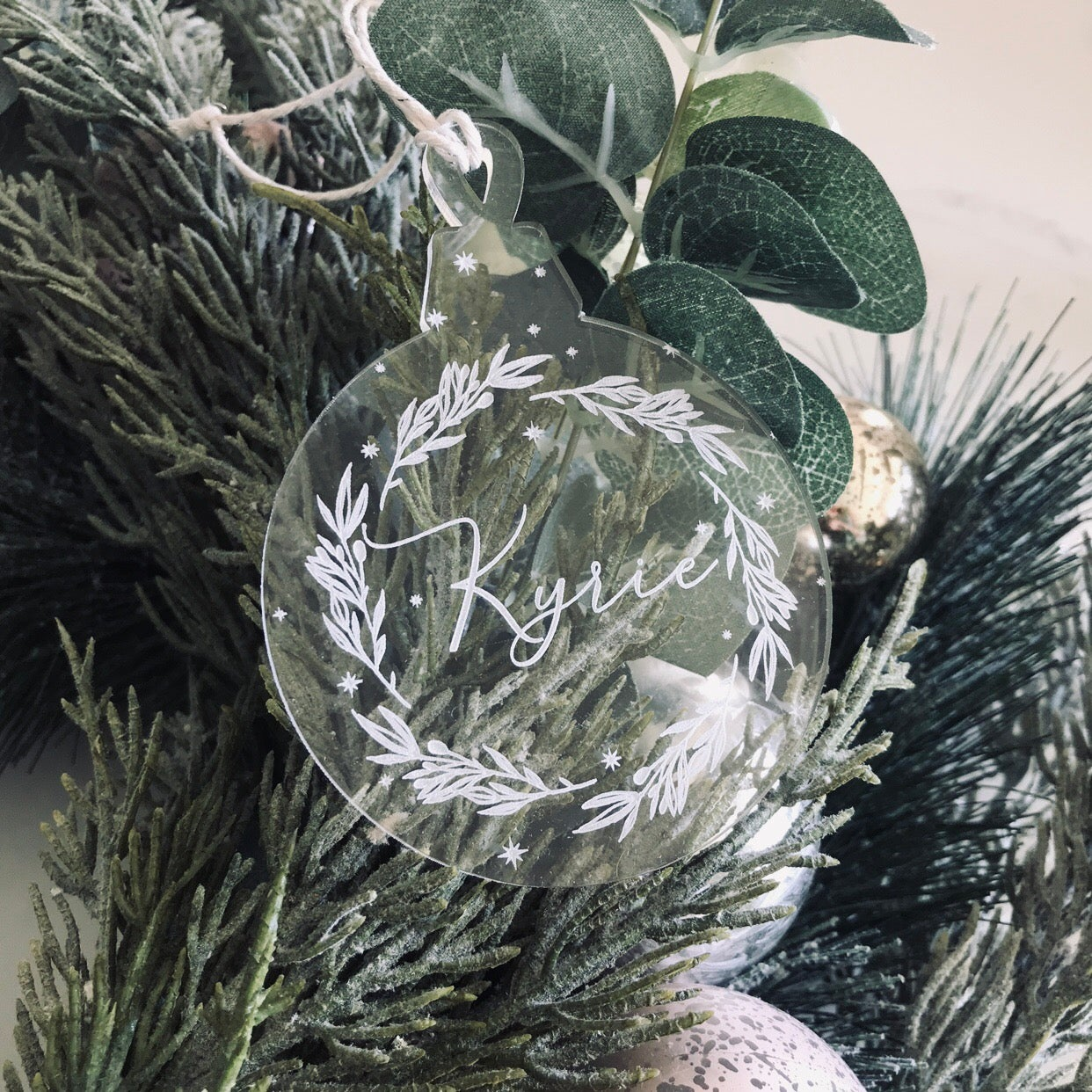 Image of Starry Wreath ornament