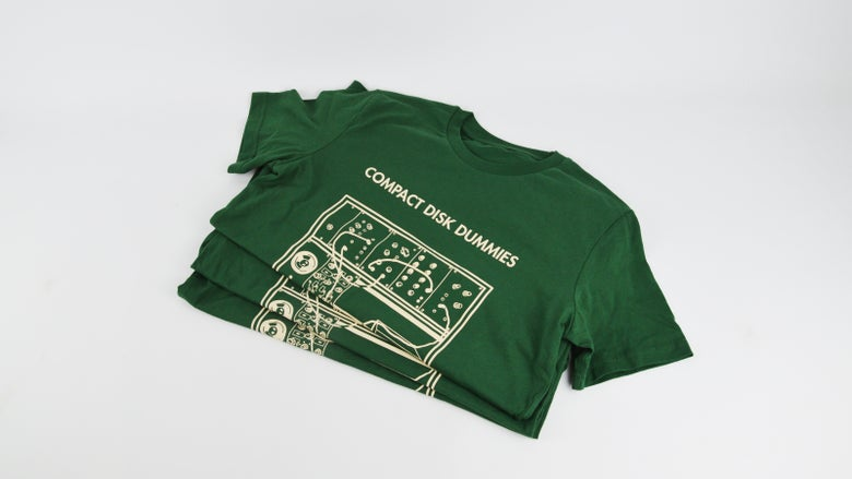 "Image of ""Synthaclaus"" Bottle Green shirt"