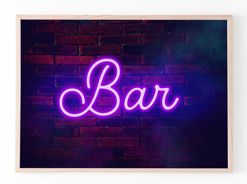 Image of Personalised Neon Poster on Brick