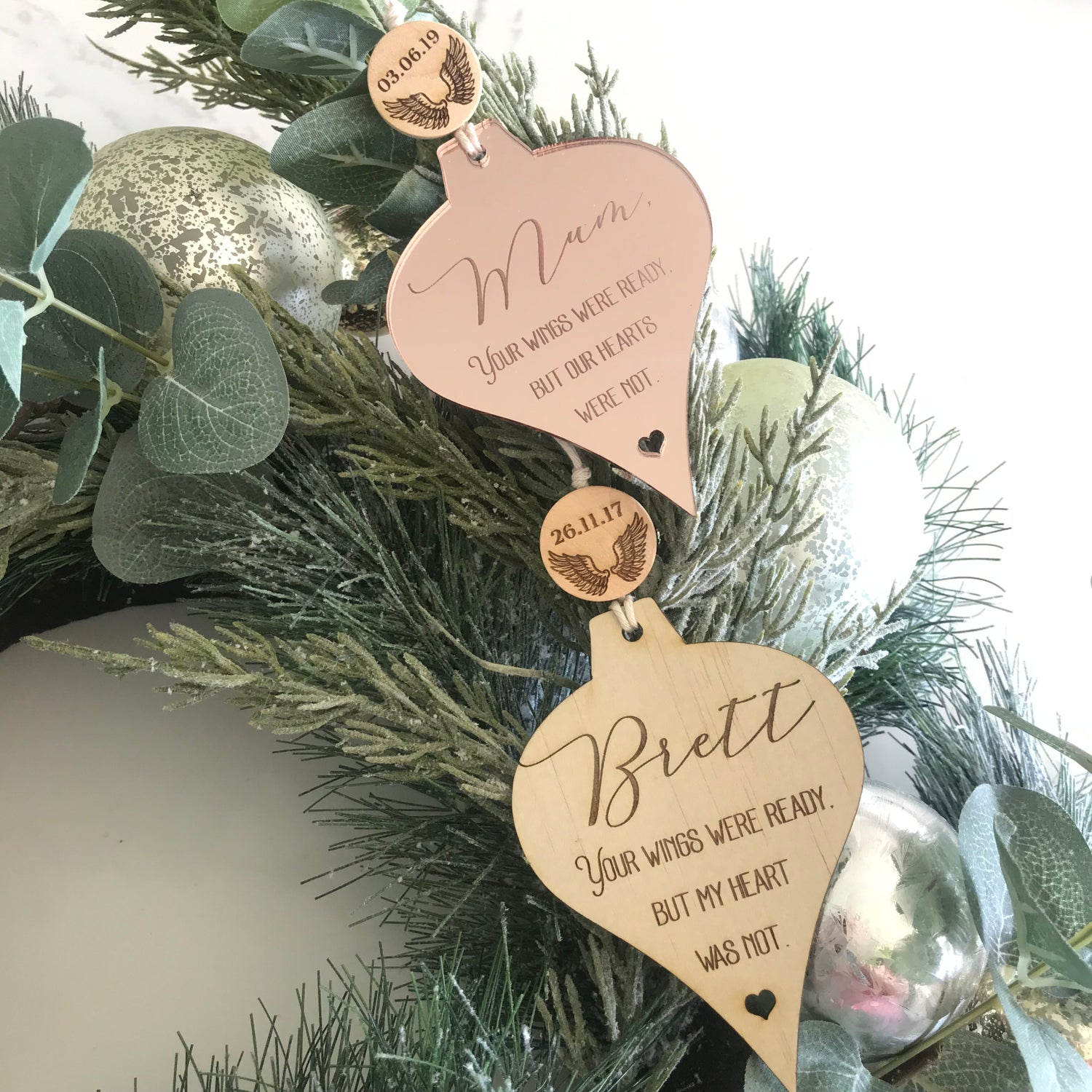 Image of Remembrance Wings Ornament