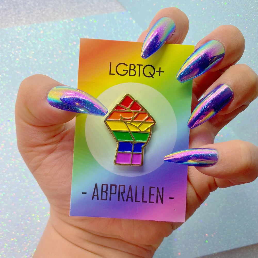 Image of LGBTQ+ Pride Flag Enamel Pin