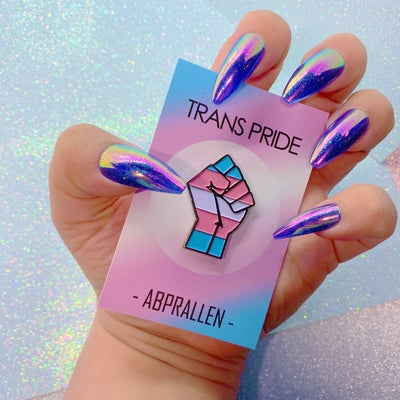 Image of Trans Pride Flag Enamel Pin
