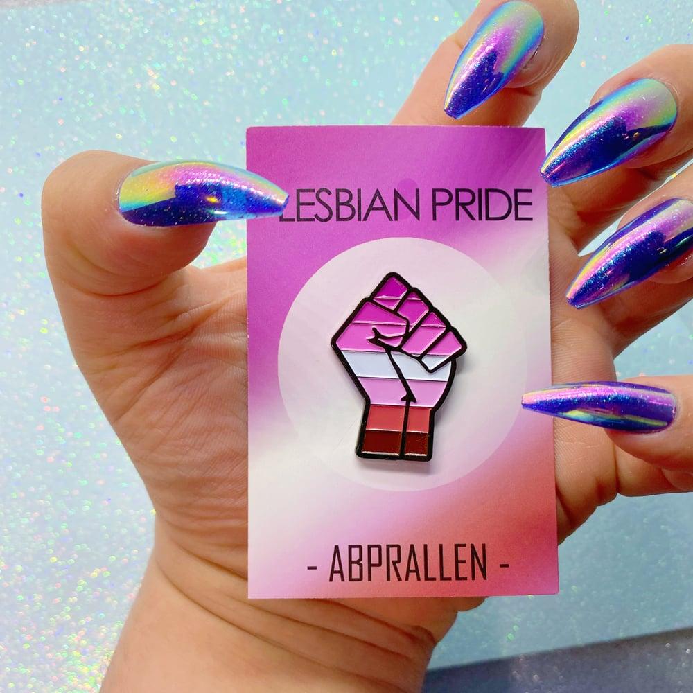 Image of Lesbian Pride Pink Flag Enamel Pin