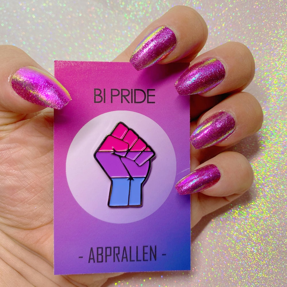 Image of Bi Pride Flag Enamel Pin