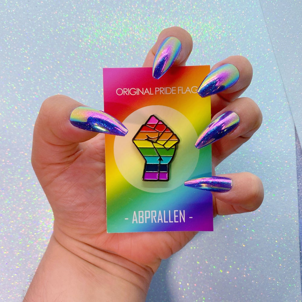 Image of Original Pride Flag Enamel Pin