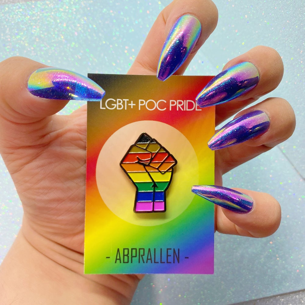 Image of POC LGBT Pride Flag Enamel Pin