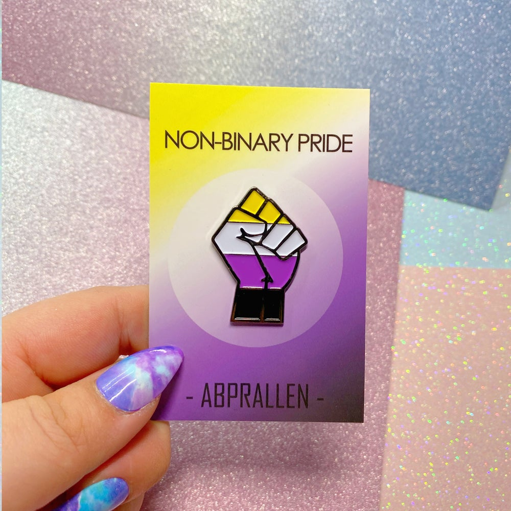 Image of Non-Binary Pride Flag Enamel Pin