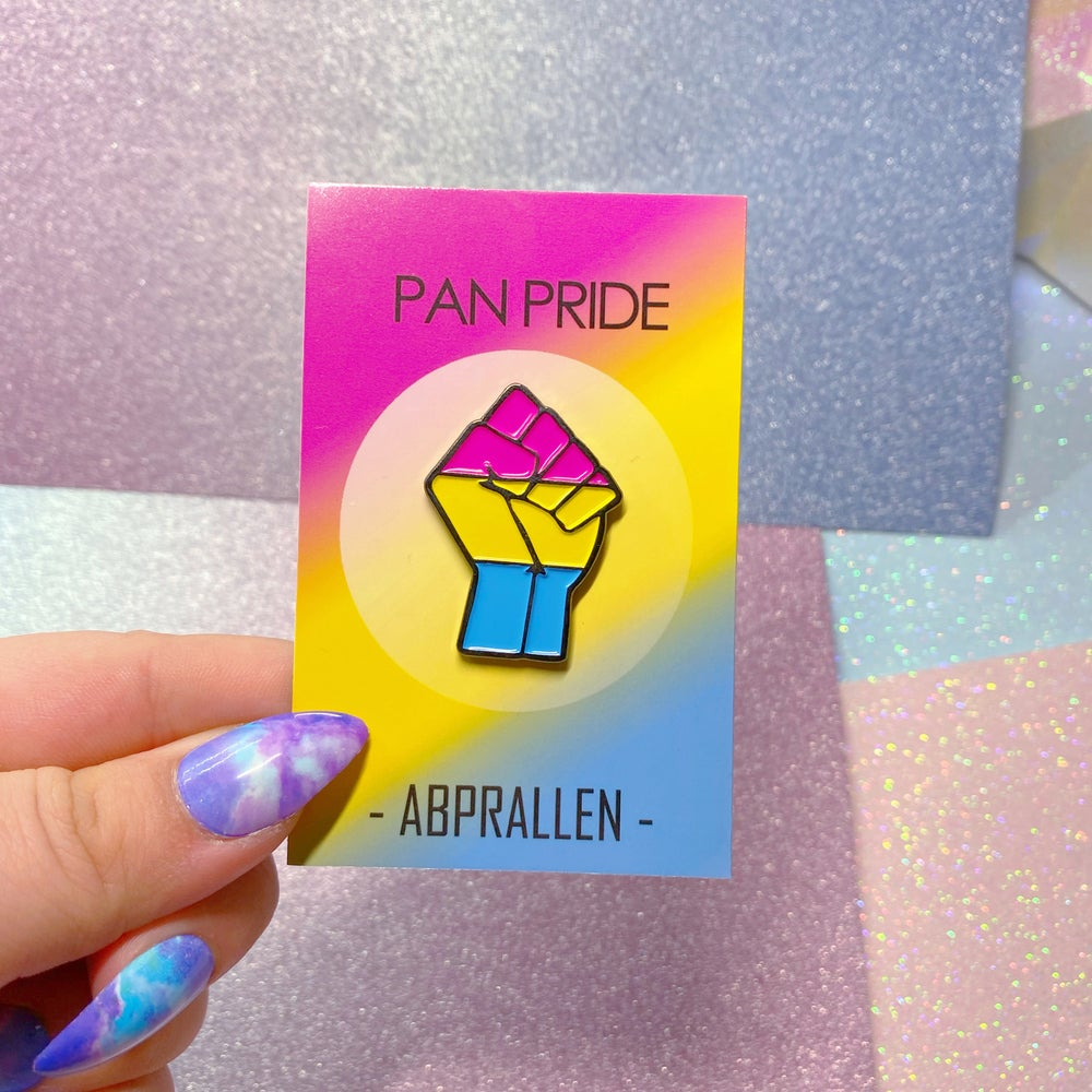 Image of Pansexual Pride Flag Enamel Pin