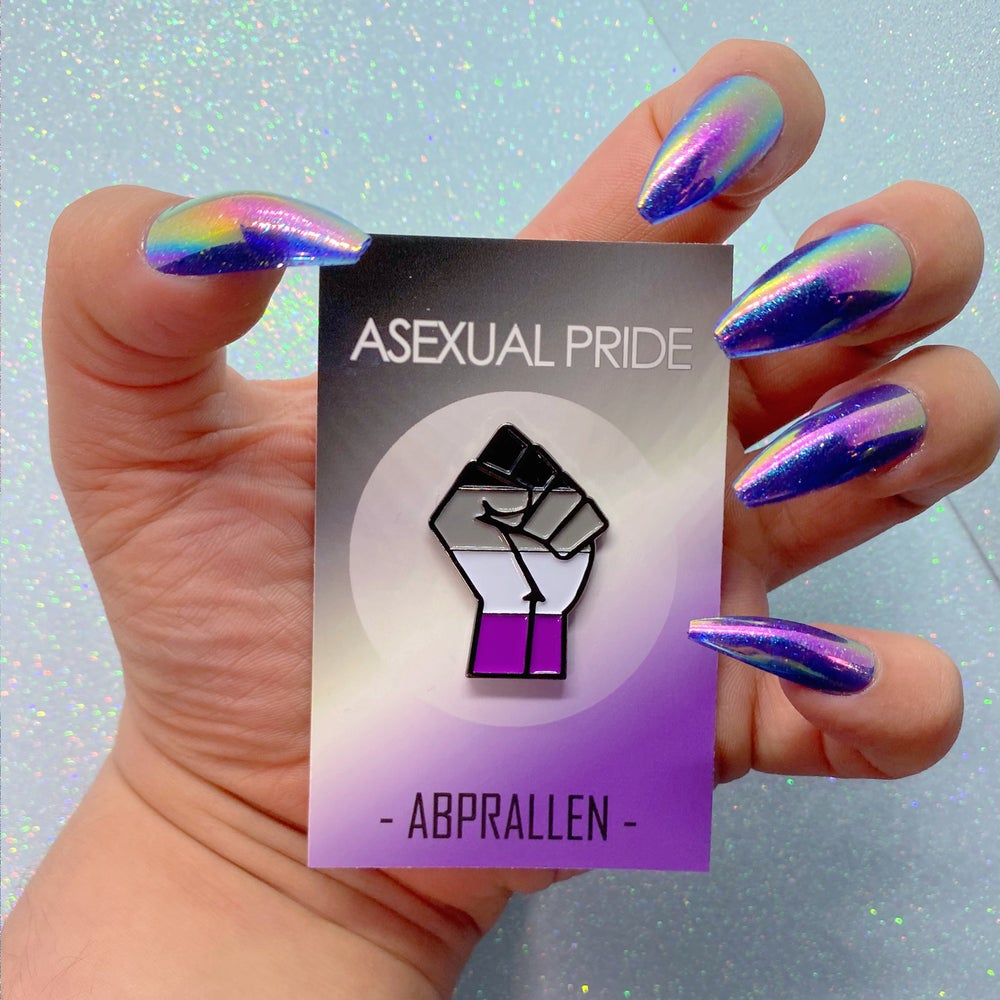 Image of Asexual Pride Flag Enamel Pin