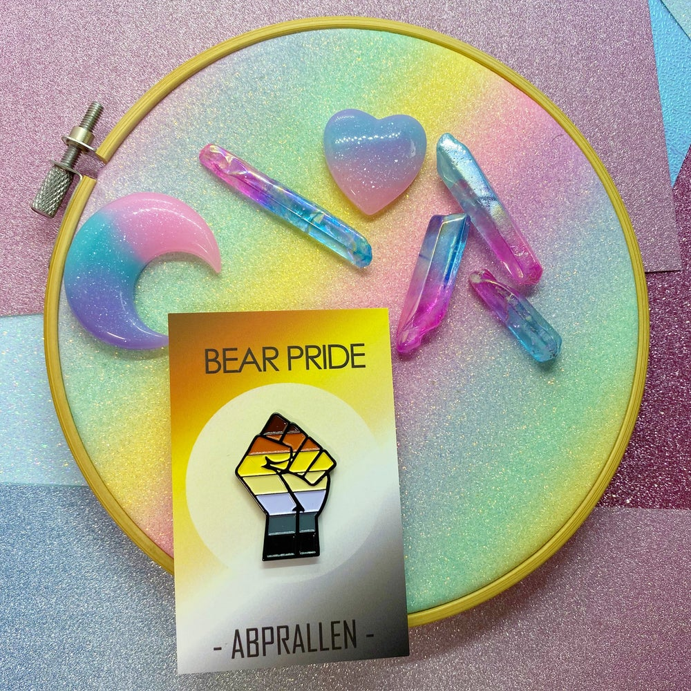 Image of Bear Pride Flag Enamel Pin