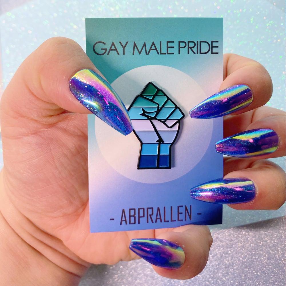 Image of Gay Male Pride Flag Enamel Pin