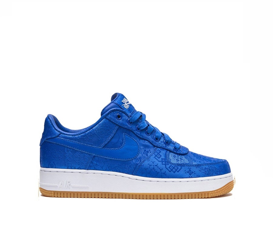 Image of NIKE AIR FORCE 1 LOW CLOT BLUE SILK CJ5290-400