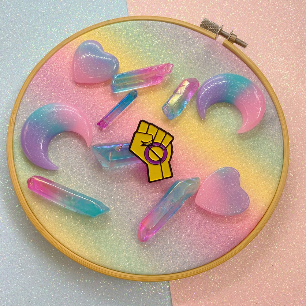 Image of Intersex Pride Flag Enamel Pin